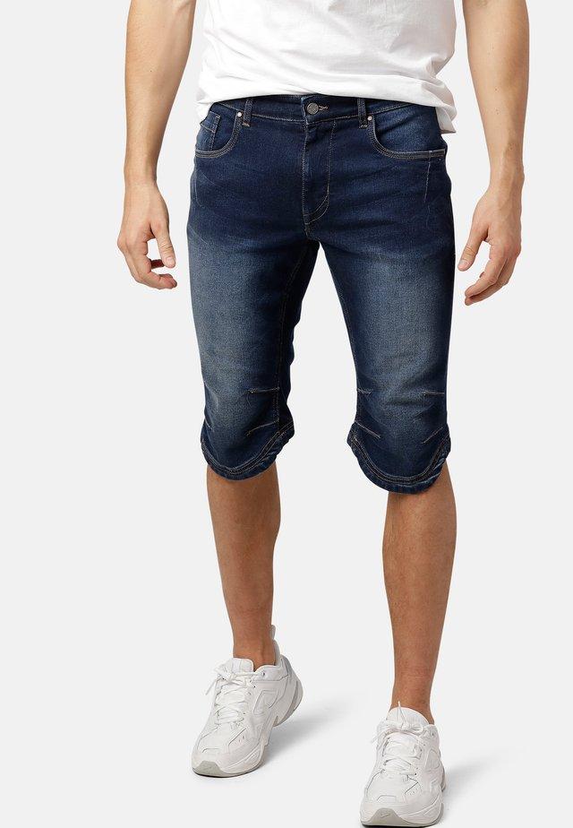 JAX KNICKERS - Denim shorts - dk.blue wash