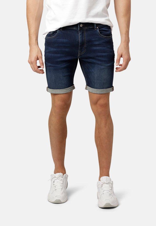 FELIX - Denim shorts - dk.blue wash
