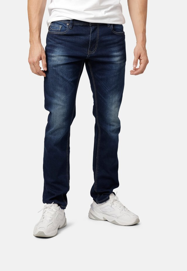 FELIX - Straight leg jeans - dk.blue wash