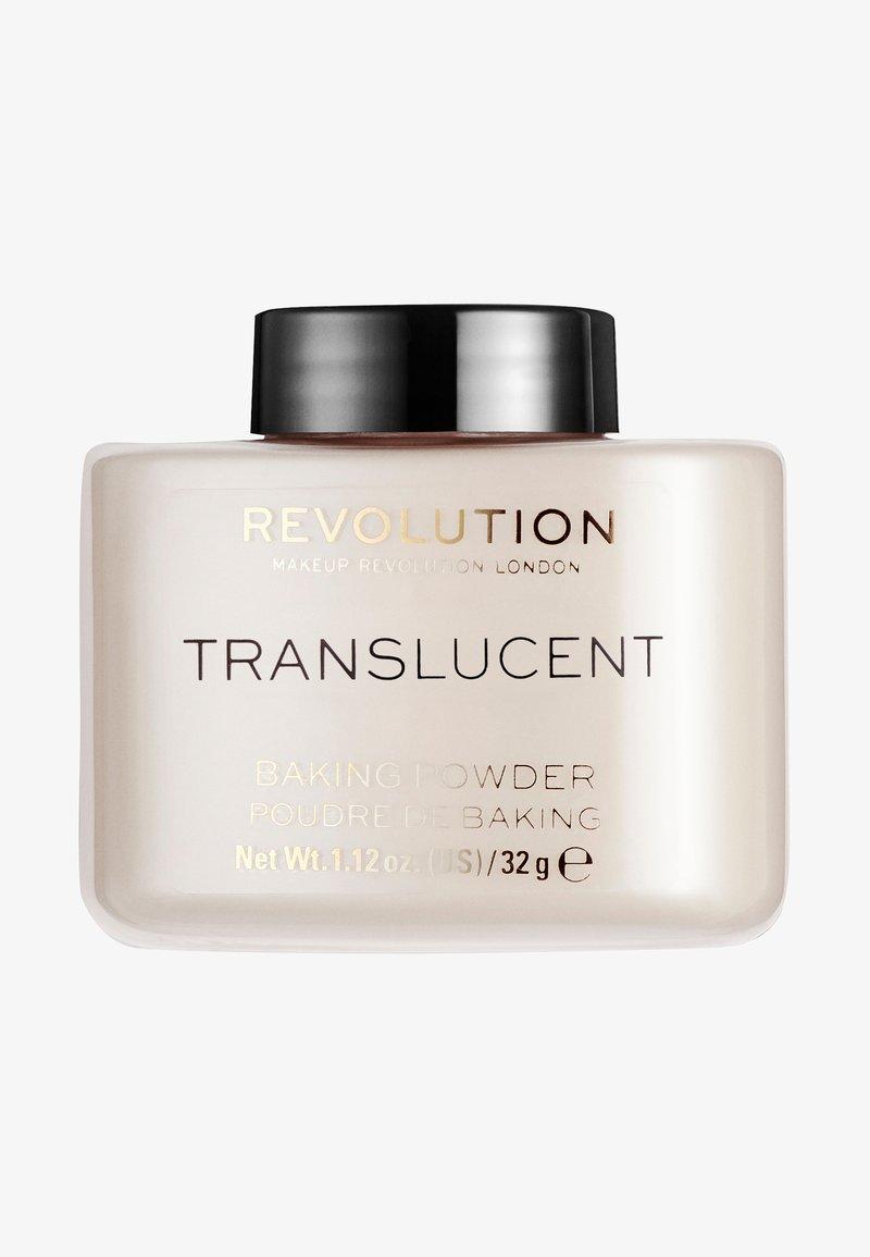 Make up Revolution - LOOSE BAKING POWDER - Fixierspray und Fixierpuder - translucent
