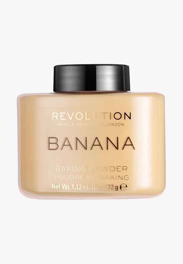 LOOSE BAKING POWDER - Spray fixant & poudre - banana