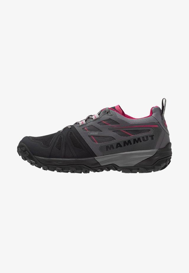 SAENTIS  - Hiking shoes - black/titanium