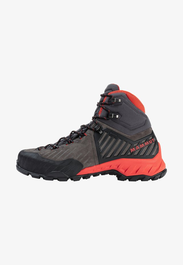 Obuwie hikingowe - dark titanium-poinciana