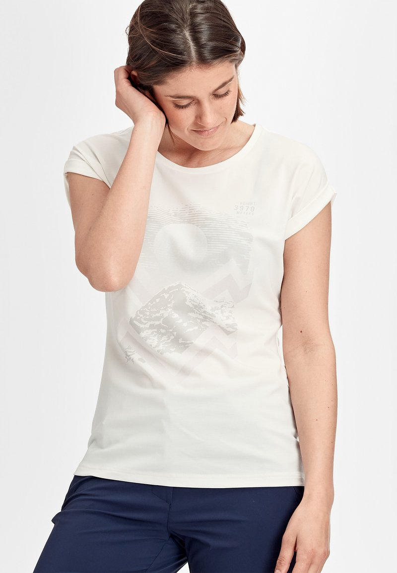 Mammut - MOUNTAIN  - Print T-shirt - bright white