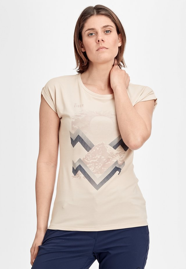 MOUNTAIN  - Print T-shirt - moonbeam