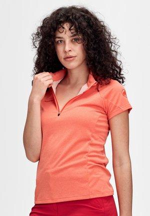 AEGILITY HALF ZIP - Basic T-shirt - poinciana melange