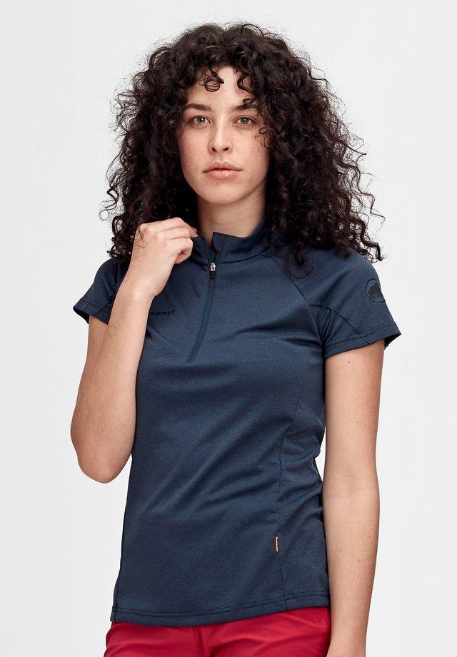 AEGILITY HALF ZIP - Basic T-shirt - marine melange