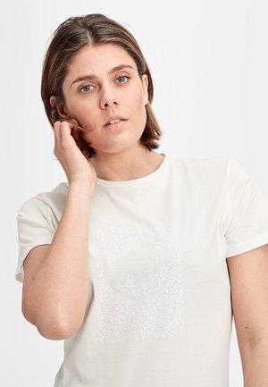 SEILE - Print T-shirt - white/grey