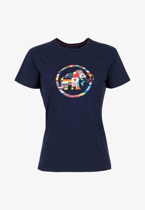 NATIONS - T-shirt z nadrukiem - peacoat