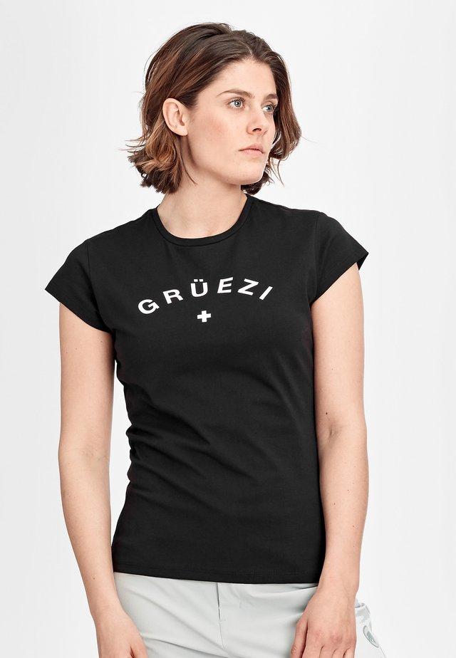 PEAKS - T-Shirt print - black prt gruezi