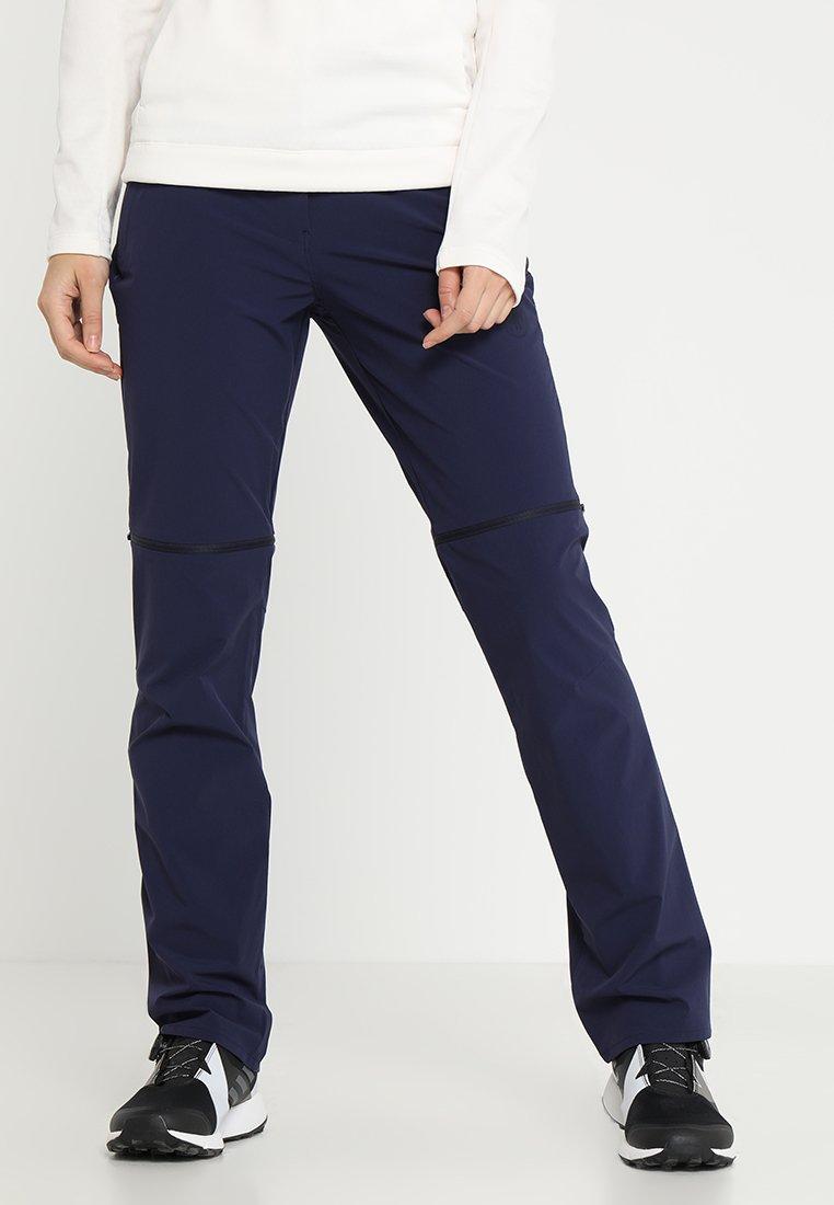 Mammut - RUNBOLD ZIP OFF PANTS WOMEN - Pantaloni - peacoat