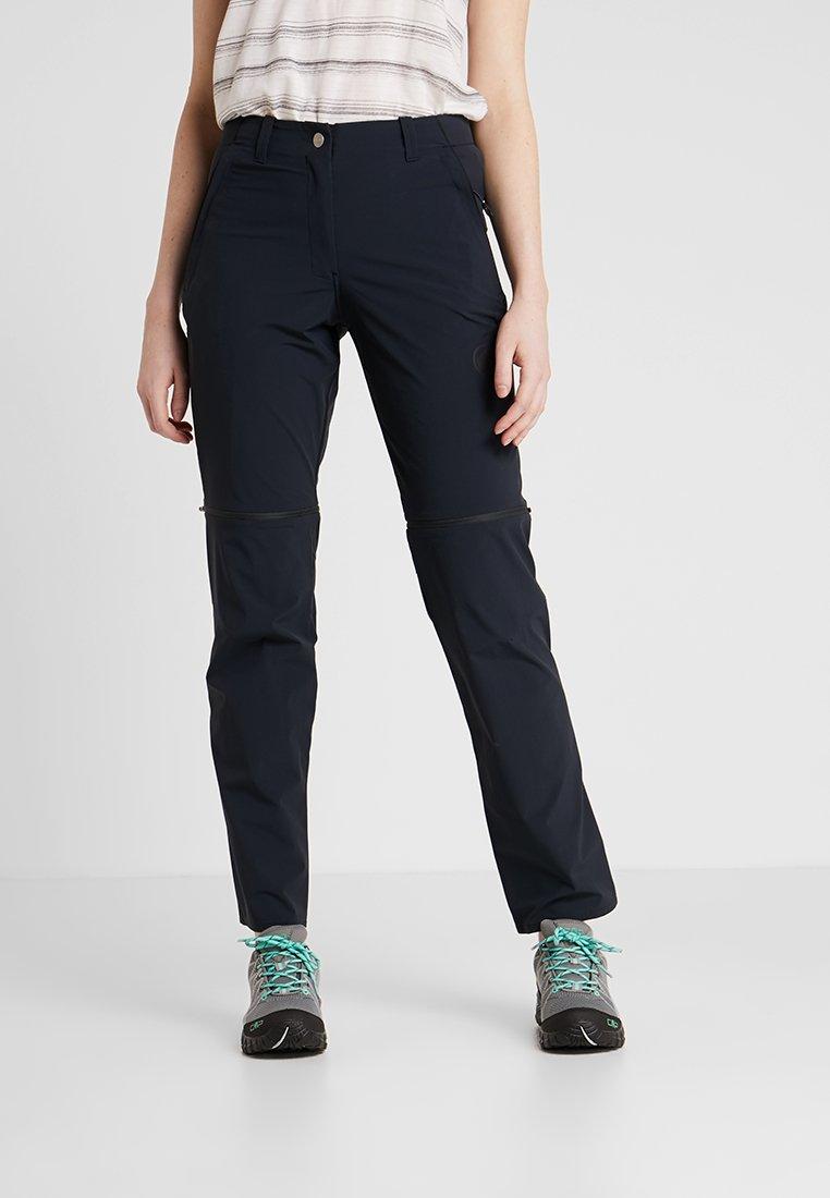 Mammut - RUNBOLD ZIP OFF PANTS WOMEN - Pantaloni - black