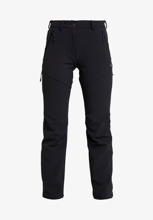 WINTER HIKING PANTS WOMEN - Pantalon classique - black