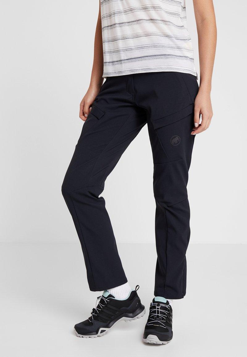 Mammut - ZINAL PANTS WOMEN - Długie spodnie trekkingowe - black