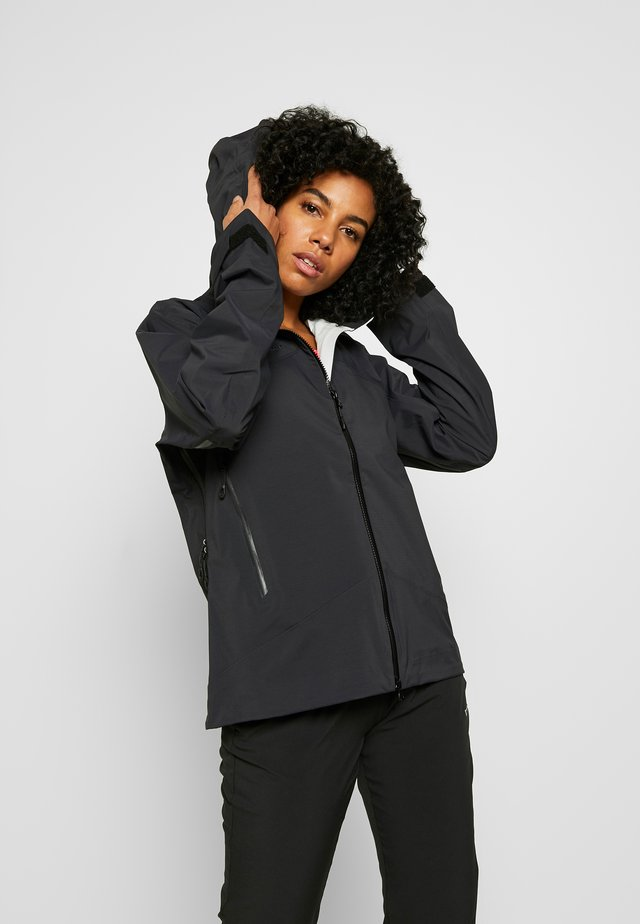 KENTO HOODED JACKET WOMEN - Hardshelljacka - black