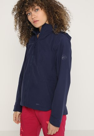 TROVAT HOODED JACKET WOMEN - Regenjas - peacoat