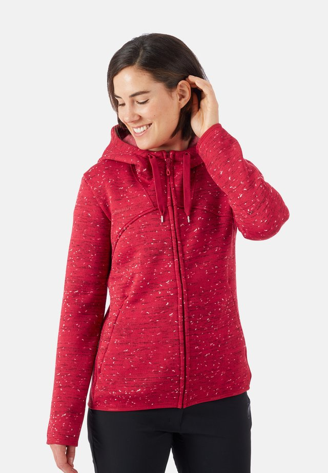 CHAMUERA - Zip-up hoodie - red