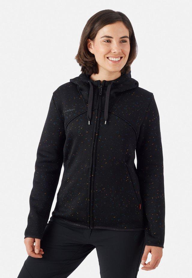 CHAMUERA - Zip-up hoodie - black