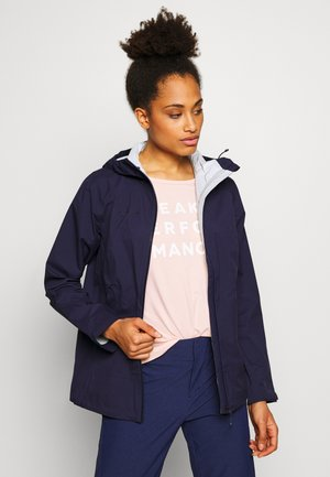 ALBULA HOODED JACKET WOMEN - Hardshell jacket - marine