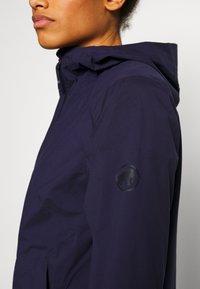 Mammut - ALBULA HOODED JACKET WOMEN - Hardshell jacket - marine - 6