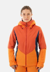 Mammut - CASANNA THERMO - Snowboardjacke - pepper-cheddar-wing teal - 0