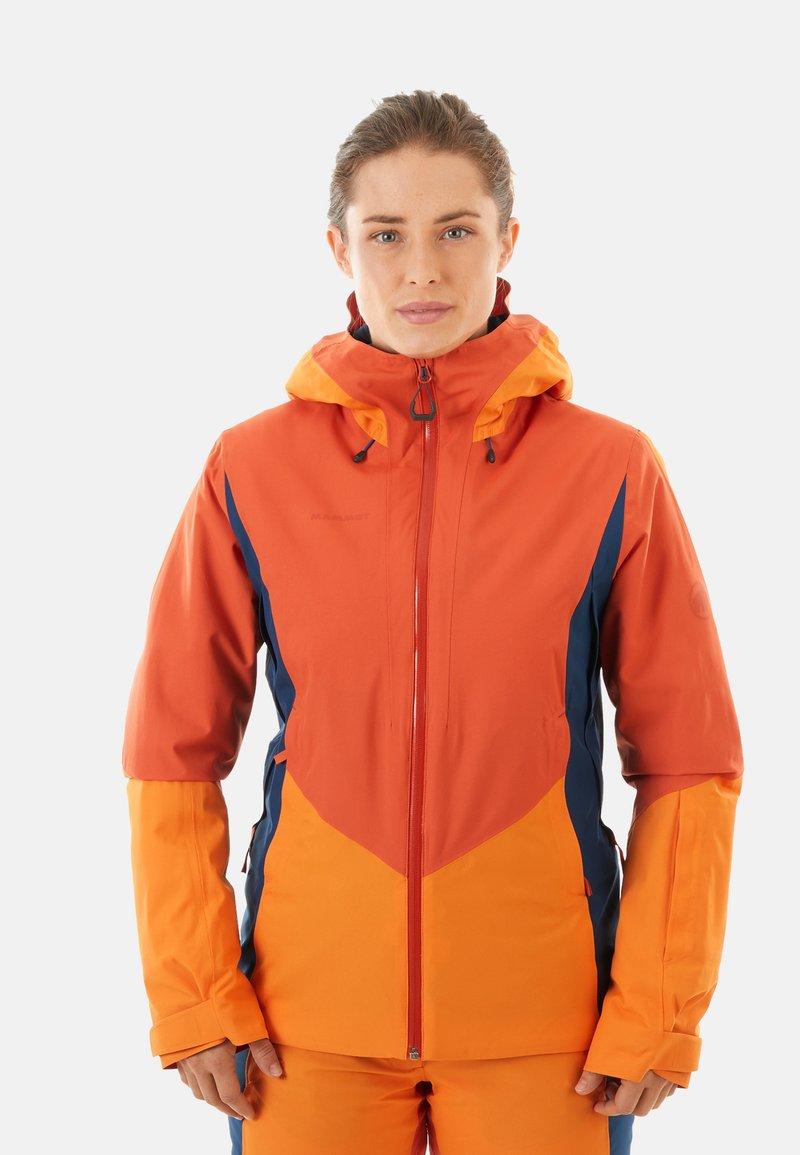 Mammut - CASANNA THERMO - Snowboardjacke - pepper-cheddar-wing teal
