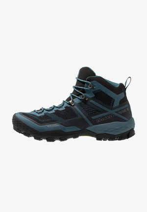 DUCAN MID GTX MEN - Obuwie hikingowe - black/light poseidon