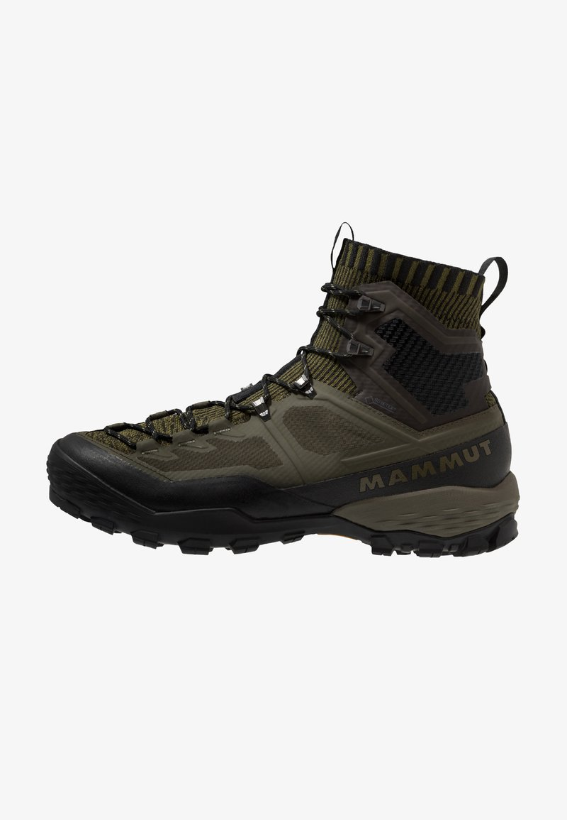 Mammut - DUCAN KNIT HIGH GTX MEN - Alpin-/Bergstiefel - dark olive