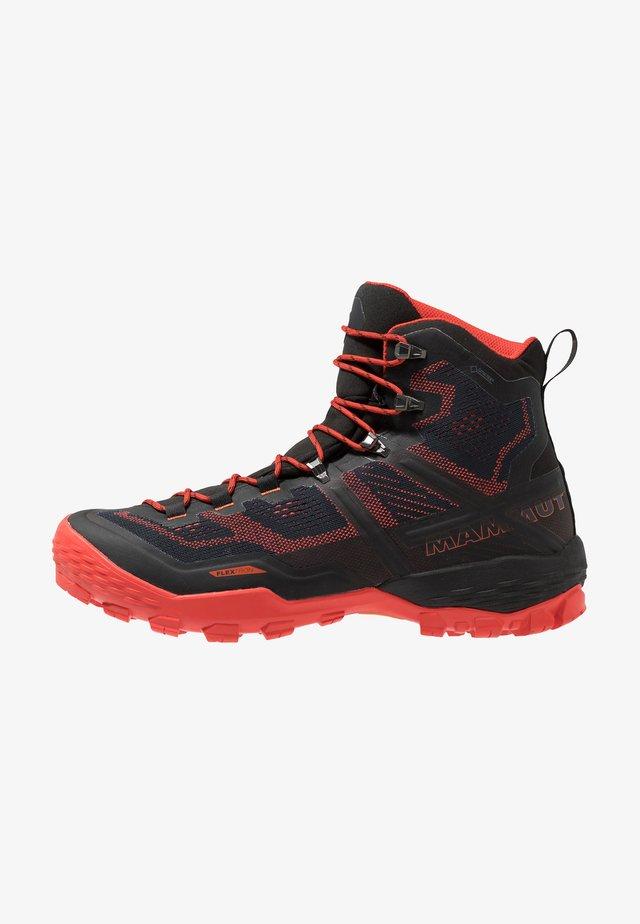 DUCAN HIGH GTX MEN - Hiking shoes - black/dark zion