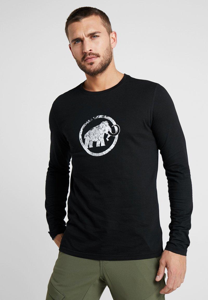 Mammut - LOGO LONGSLEEVE MEN - Langærmede T-shirts - black