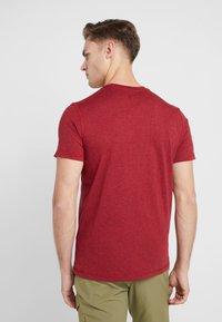 Mammut - SLOPER  - T-shirt z nadrukiem - mottled red - 2