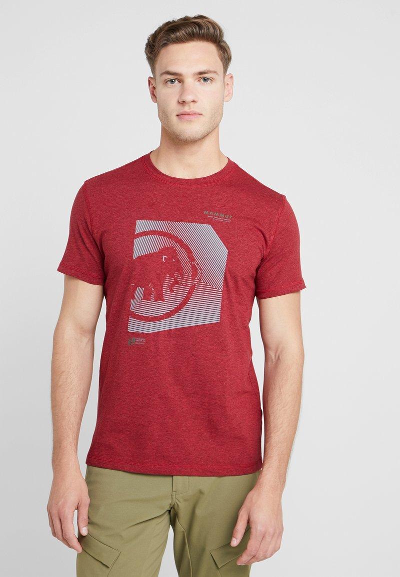 Mammut - SLOPER  - T-shirt z nadrukiem - mottled red