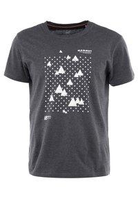 Mammut - SLOPER  - T-shirt con stampa - black melange - 0