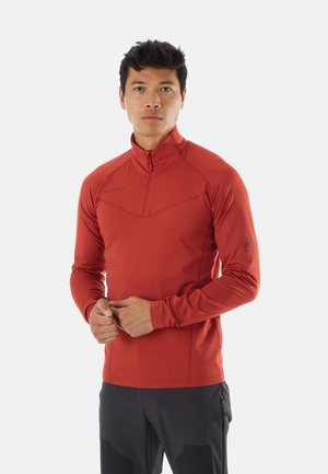 Fleece jumper - red