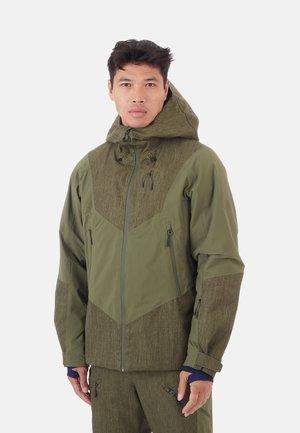 Snowboard jacket - green/dark green
