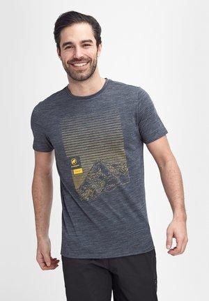 ALNASCA - Print T-shirt - peacoat melange