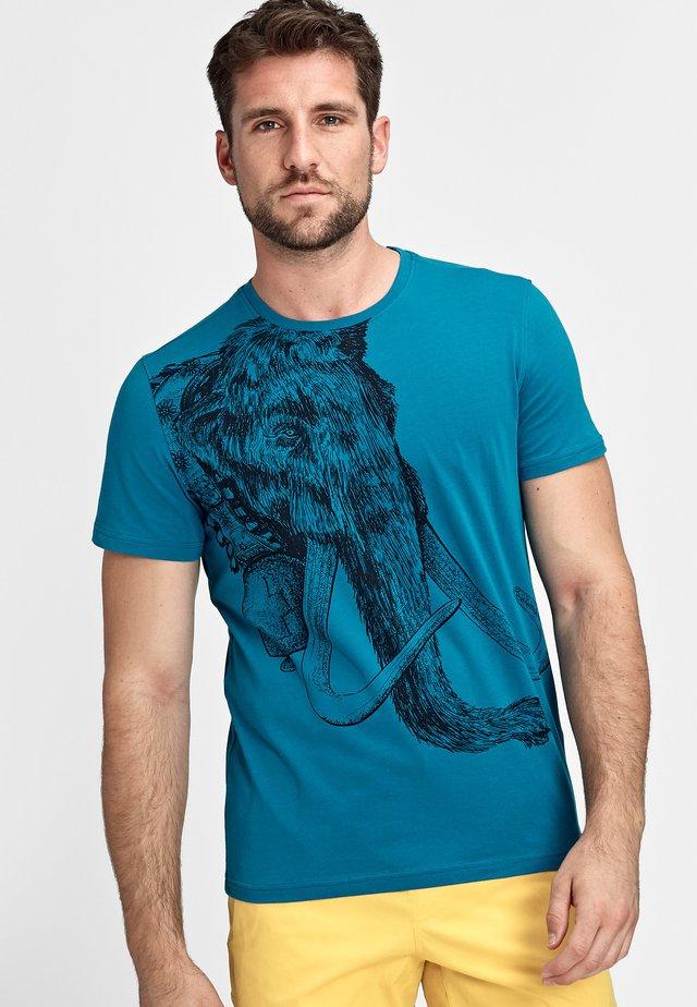 Print T-shirt - sapphire