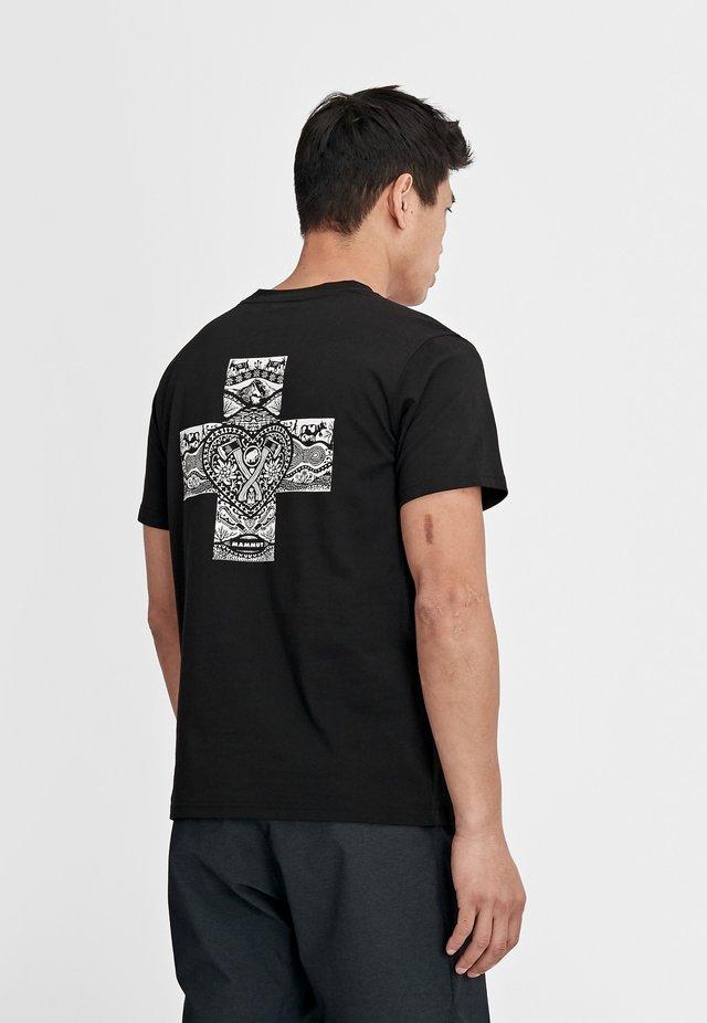 SEILE - Print T-shirt - black prt