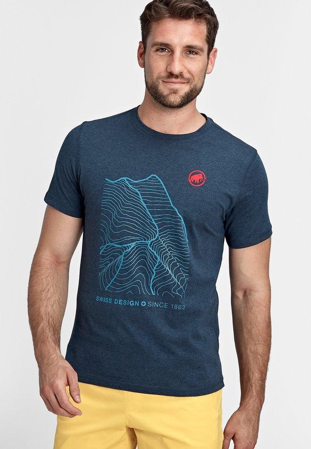 SLOPER - Print T-shirt - marine melange