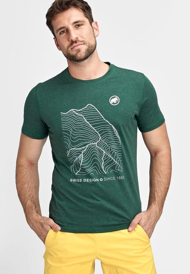 SLOPER - Print T-shirt - woods melange