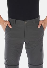 Mammut - RUNBOLD ZIP OFF PANTS MEN - Spodnie materiałowe - dark grey - 4