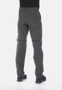 Mammut - RUNBOLD ZIP OFF PANTS MEN - Spodnie materiałowe - dark grey - 1