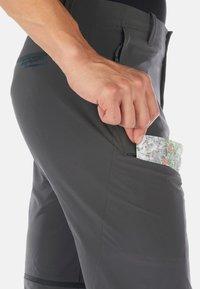 Mammut - RUNBOLD ZIP OFF PANTS MEN - Spodnie materiałowe - dark grey - 3