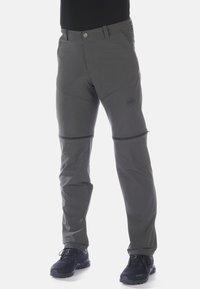 Mammut - RUNBOLD ZIP OFF PANTS MEN - Spodnie materiałowe - dark grey - 0
