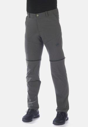 RUNBOLD ZIP OFF PANTS MEN - Trousers - dark grey