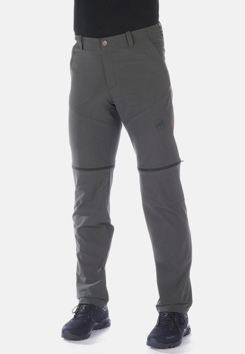 Mammut - RUNBOLD ZIP OFF PANTS MEN - Spodnie materiałowe - dark grey