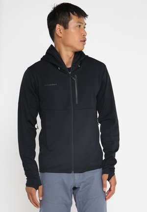 ULTIMATE HOODED JACKET MEN - Soft shell jacket - black
