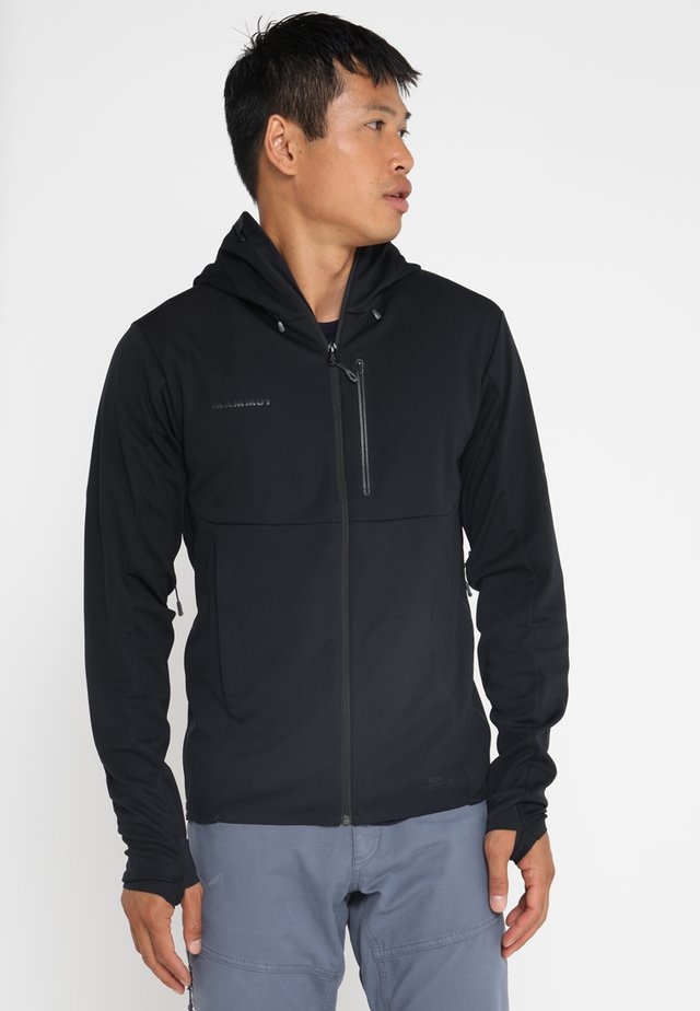 ULTIMATE HOODED JACKET MEN - Softshell jakker - black