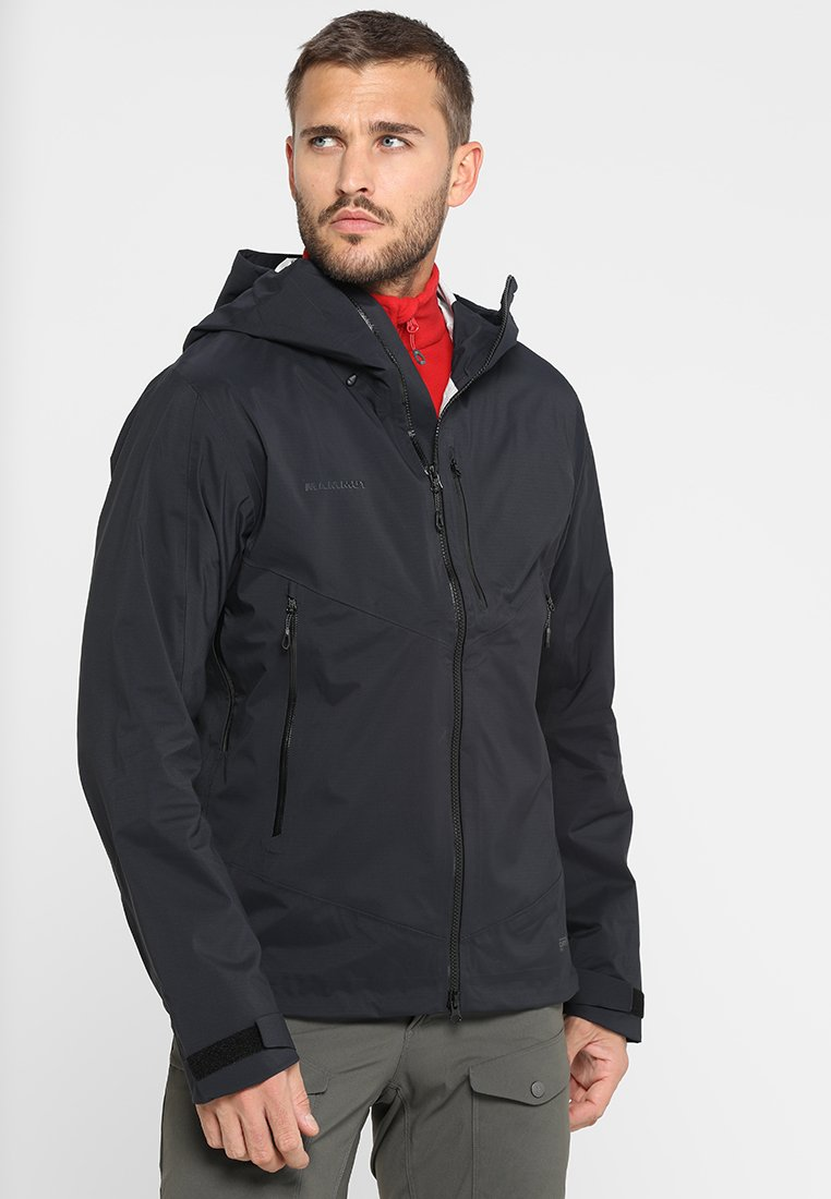 Mammut - KENTO HOODED JACKET - Regnjacka - black