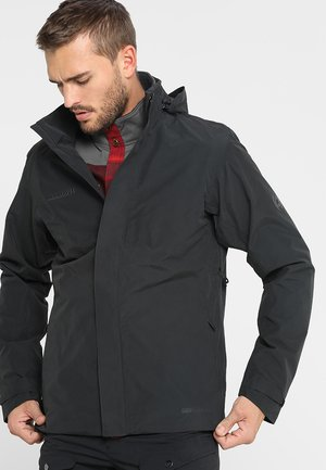 TROVAT HOODED JACKET MEN - Regenjas - black